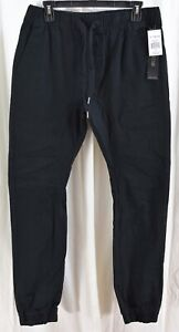 WT02 Men's Jogger Pants Black Size Medium
