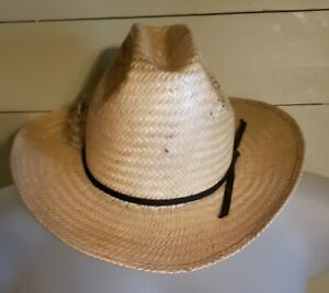 American Hat Company Straw Hat Poli Rope SIze 7 1/8
