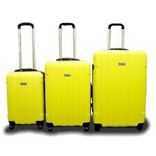 New DeBox 3PCS Luggage Travel Set Bag 3 PCS ABS Trolley Suitcase w/ Lock Yellow