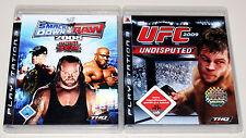 2 PLAYSTATION 3 giochi Set-UFC Undisputed 2009 & Smackdown vs Raw 2008 ECW