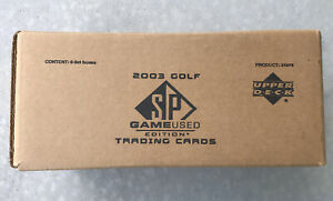 2003 Upper Deck SP Game-Used Golf Factory Sealed 6 Box Case Tiger Woods