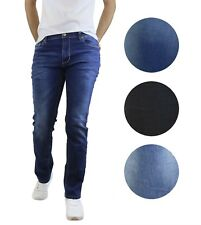 Mens Jeans Washed Tailored Fit Straight Leg W Stretch For Comfort Five Pocket