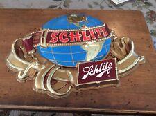Vintage Schlitz Beer Around the World Sign Nos