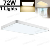 72W LED Ceiling Light Modern Fixture Bedroom Kitchen Surface Mount Lighting