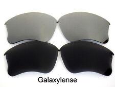 Galaxy Replacement Lenses For Oakley Flak Jacket XLJ Black&Titanium Polarized