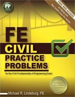 FE Civil Practice Problems by Michael R. Lindeburg PASS THE EXAM!! Textbook Book