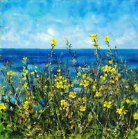 ORIGINAL Ölmalerei Malerei Kunst Landschaft GemäldeBlumen Meer Art Oil painting
