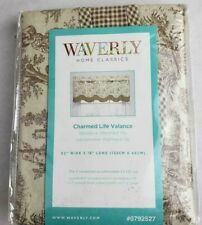 """Waverly Charmed Life Toile Valance Brown/Linen Cotton 52""""X 18"""" 0792527"""