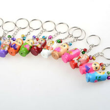 Wood wooden keychain Dolls Key Russian Dolls Key Rings 12PCS Matryoshka Key