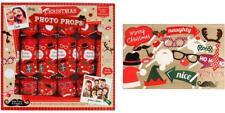 Festive Photo Prop Xmas Christmas Crackers 6 Pack
