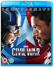 Captain America Part 3 Civil War Blu ray Original UK Release Brand New Sealed