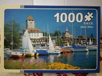 Lake Thun & Spiez Switzerland 1000 piece Jigsaw Puzzle Complete Yachts Harbour