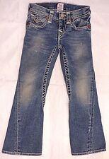 TRUE RELIGION Jeans Joey Little Girls 6 Flap Pockets Rope Stitch