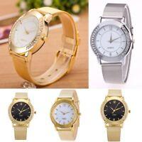 Fashion Women Crystal Watch Stainless Steel Analog Quartz Bracelet Wrist Watch