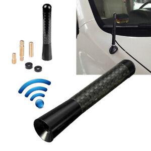 """Car Aerial Antenna 3.1"""" Auto Aluminum Alloy Carbon Fiber FM AM Radio Universal"""