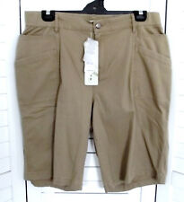 LADIES BROWN TAN STRETCH SHORTS PLUS SIZE 14 ** AUTOGRAPH ** New with tags