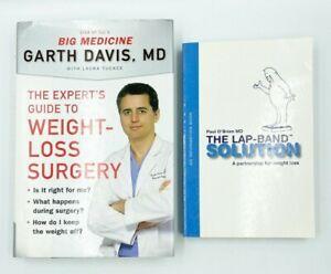 2 Books Lap-Band & Weight Loss Surgery by Paul O'Brien & Garth Davis MD