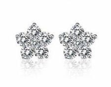 sterling silver snowflake Cubic Zirconia earrings for women girls with gift box