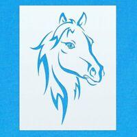 Horse Face Farm Animal Mylar Airbrush Painting Wall Art Crafts Stencil 2