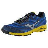 Mizuno Mens Wave Kazan Running Sneaker Shoes, Dress Blue/Silver/Yellow, US 8