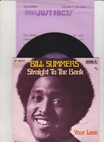 """BILL SUMMERS -Straight To The Bank- 7"""" 45 Single"""