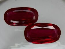 1x big 21x12mm Lab Created Ruby Synthetic Loose Gemstone Oval 1/2 price poor cut