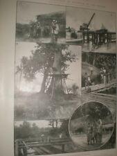 Scenes in the gold district of Kelantan Malaysia 1902 prints ref AW
