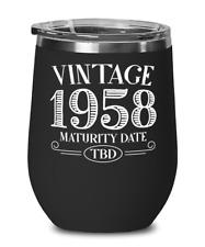 Vintage 1958 Awaiting Maturity - Funny Wine Lovers Birthday Gift for Men Women B