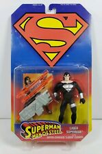 DC Superman Man of Steel Laser Superman Action Figure w/Laser Cannon 1995 Kenner