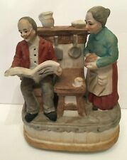 Vintage Music Box As Time Goes By Elderly Couple Kitchen Scene Porcelain Figure