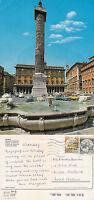 1980's COLONNA SQUARE ROME ITALY COLOUR POSTCARD