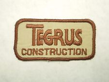 Vintage Tegrus Construction Location in Texas Uniform Jacket Hat Iron On Patch