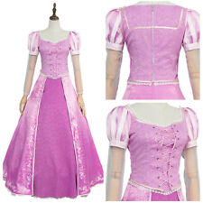 Tangled Princess Rapunzel Party Dress COSplay Costume Adult Girl & Kids Size
