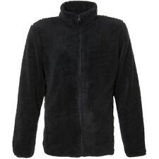 Mens Fleece Jacket Full Zip Plain Black Or Grey Large Medium XL Work M L XL