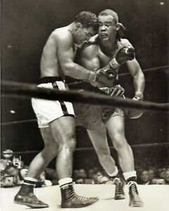 ROCKY MARCIANO KO's JOE LOUIS 8X10 PHOTO BOXING PICTURE FIGHT ACTION
