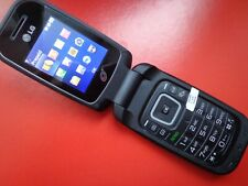 LG 440G  Black flip phone only TracFone good working condition