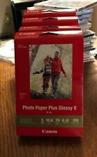 "Canon Inkjet Photo Paper Plus Glossy II PP-301 100 sheets/pack 4""x6"""