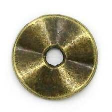 100 Perles intercalaire Rond difforme Bronze 10mm Dia.K02096
