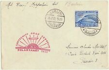 Zeppelin Letter Polarflight 1931 with 2 Reichsmark Stamp