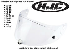 HJC visera hj-09 para cl-SP cs-15 fg-15 fs-11 tr1 cl-St II claramente Pinlock ductor