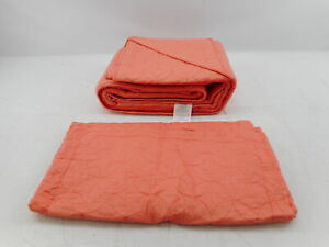 Laura Ashley 195557 - Home Solid Collection 3 Pc Quilt Coverlet Set, King, Coral