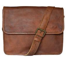 """13"""" Men's Stylish Vintage Genuine Leather Laptop Shoulder Messenger Office Bag"""