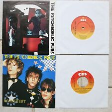 "Psychedelic Furs - 2 x 7"" Singles  → Pretty In Pink CBS A1327 (UK) & → Heartbeat"