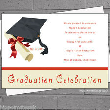 Graduation Party Invitations x 12 + envs - Celebration Graduate  H0250