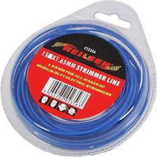 15m Universal Blue Garden Hedge Grass Strimmer Trimmer Line Wire Refill  1.6mm