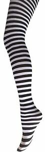 Ladies Stripy Tights- Ladies Stripe Fancy Dress Tights- Halloween Stripe Tights