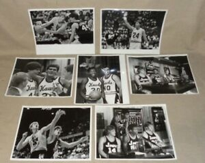 Lot of 7 Vintage 1970,80's U OF IOWA  Basketball Original Photos