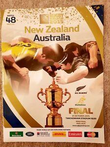 Rugby 2015 World Cup final at Twickenham new Zealand vs Australia programme