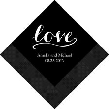 300 Love Signature Personalized Wedding Luncheon Napkins