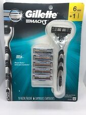 Gillette MACH3 1Razor & 6 Cartridges Brand New Free Shipping